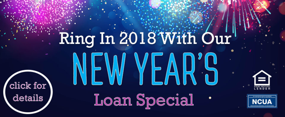 Fireworks background advertising New Years Loan Special